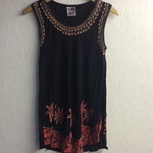 India Boutique Palm Tree Shirt, size: Large